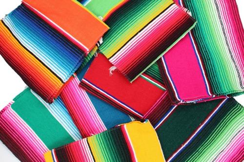 camino de mesa sarape mexicano 37 cms x 2.10 mt (10 pack)