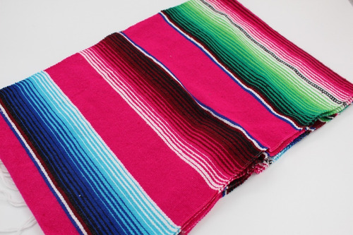 camino de mesa sarape mexicano 37 cms x 2.10 mt (12 pack)