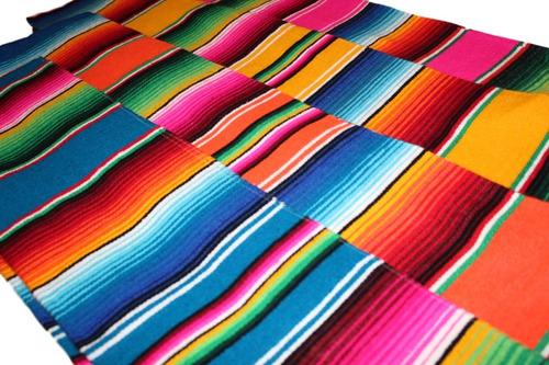 camino de mesa sarape mexicano 37 cms x 2.10 mt (25 pack)