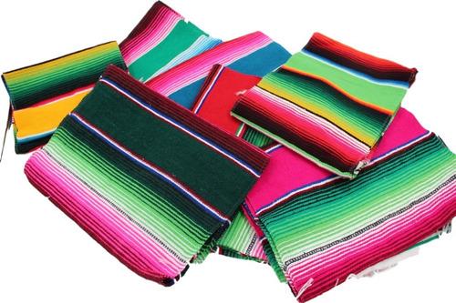 camino de mesa sarape mexicano 37 cms x 2.10 mt (30 pack)