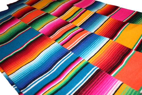 camino de mesa sarape mexicano 37 cms x 2.10 mt (45 pack)