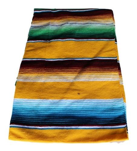 camino de mesa sarape mexicano 37 cms x 2.10 mt economicos