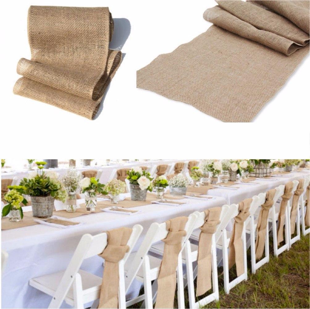 Camino de mesa yute bodas eventos rustic banquetes for Caminos para mesas redondas