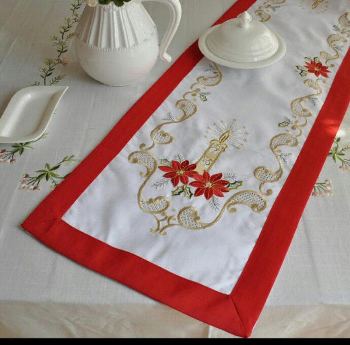 Camino tapete centro de mesa navide o s 69 00 en - Camino de mesa elegante en crochet ...