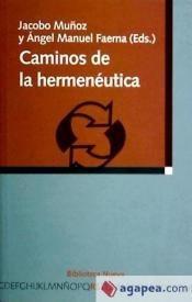caminos de la hermenéutica(libro filosofía)