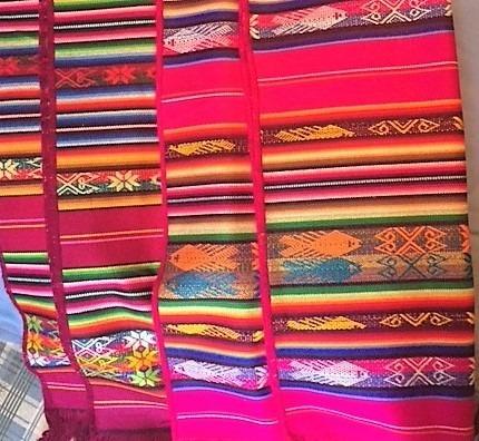 caminos de mesa, artesanía ecuatoriana. precio por unidad
