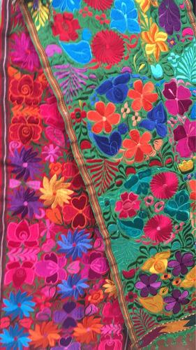 caminos de mesa, bordado a mano artesanal