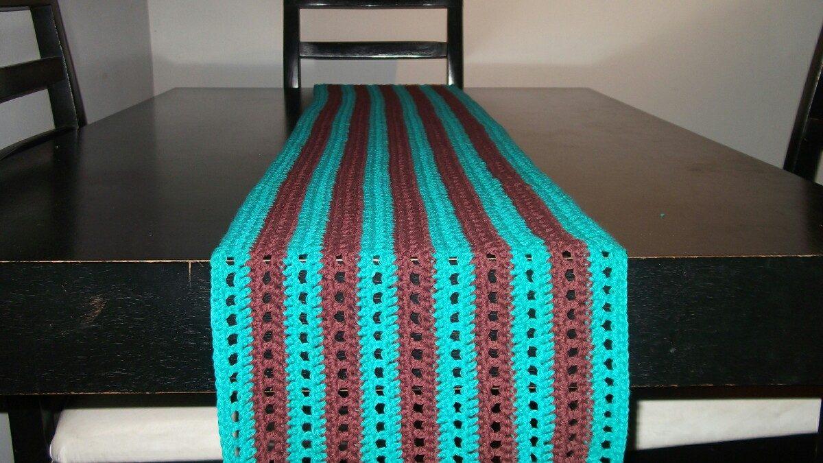 caminos de mesa tejidos a crochet cargando zoom - Caminos De Mesa