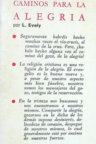 caminos para la alegria louis evely coleccion hinnení