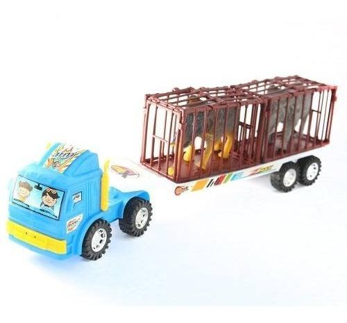 camió juguete con animales en jaula 45x10cm