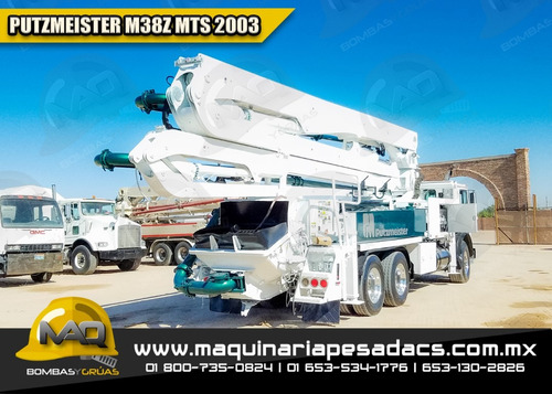 camion 2003 bomba concreto mack - putzmeister  m38z mts