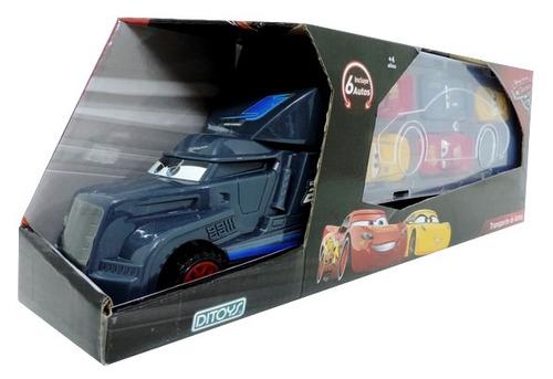 camion + 6 autitos cars rayo mcqueen jackson storm ditoys