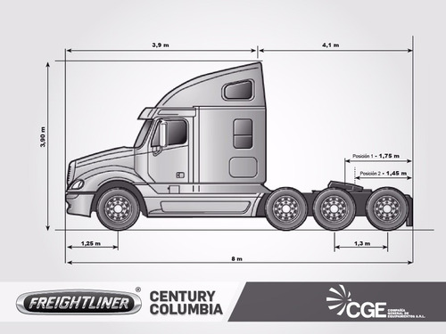 camion americano freightliner columbia 2006 / aptos bitren