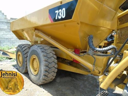 camión articulado 730 cat año 2008 6x6 buenas llantas