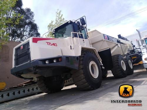 camión articulado terex ta40 2005 cat 740