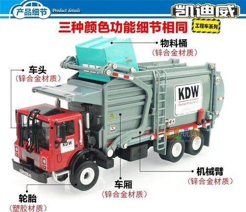 camion basurero escala 1:24 no caterpillar metal perco