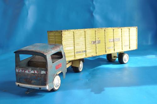 camion bedier chapa expreso la costera juguete antiguo