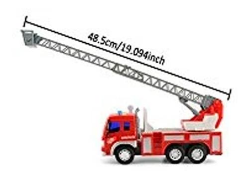 camión bombero a fricción c/luz sonido escalera 30cms cadia