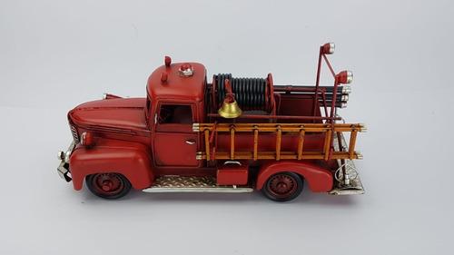 camion bomberos replica en escala chapa decorativo regalo