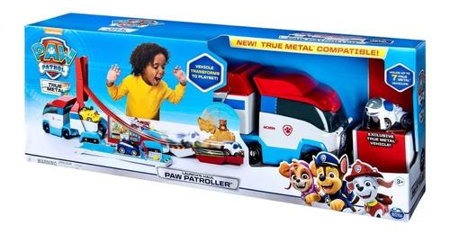 camión bus pista rescate 2 en 1 paw patrol, paw patroller.