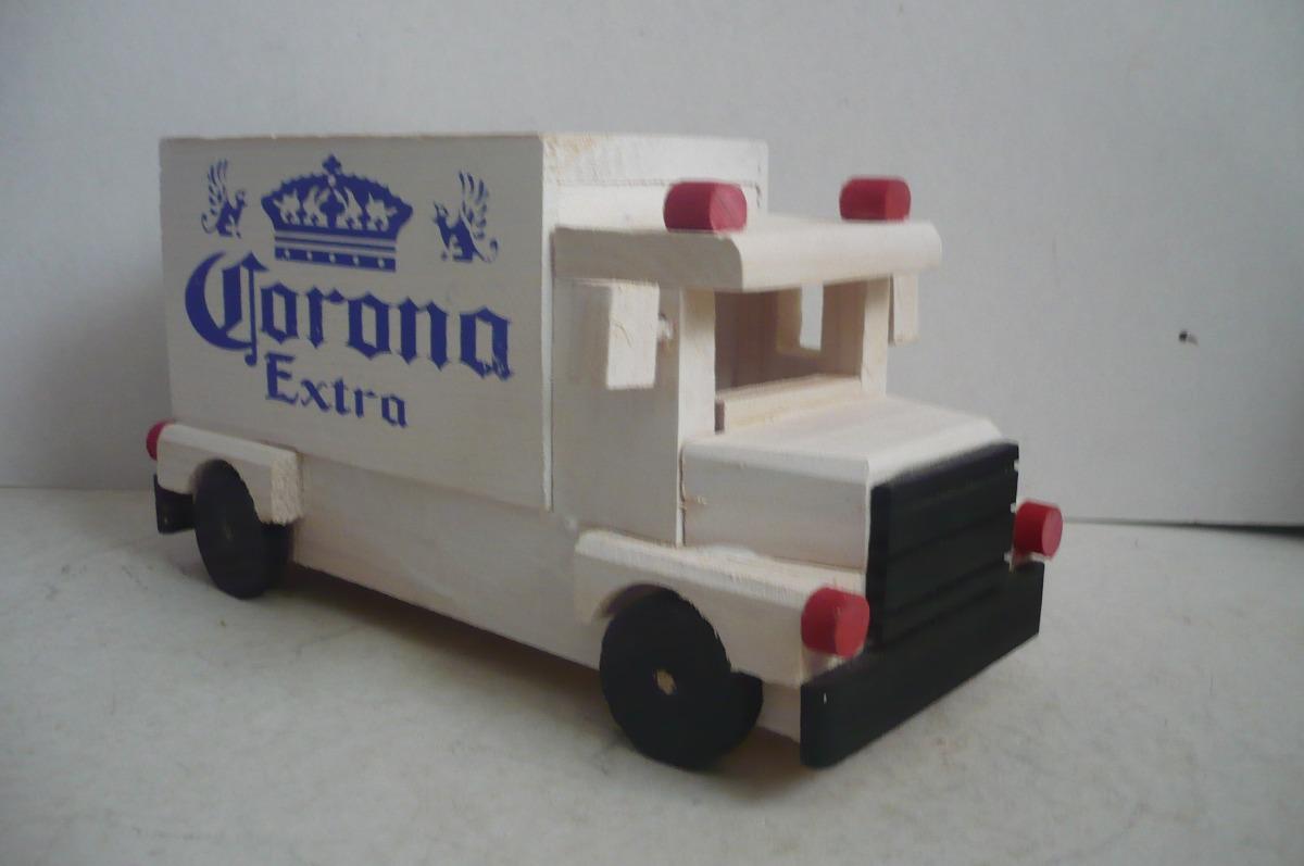 Camion cerveza corona camioncito de madera camion for Vetas en la madera