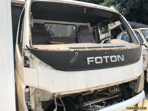 camion chocado plataforma futon npr