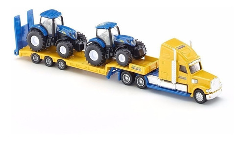 camion con 2 tractores new holland - siku 1805- 1/87 h0