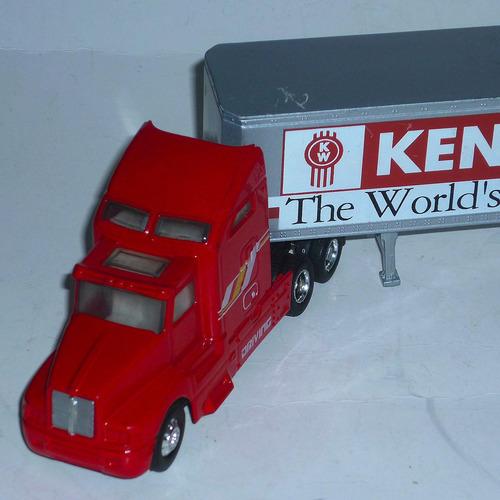 camion con acople kenworth liberty classics full metal 1/64