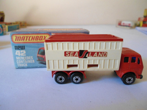 camión con conteiner matchbox superfast - nº 42-escala: 1/64