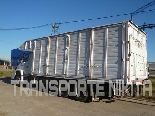 camion con pala hidráulica plataforma chasis art economico
