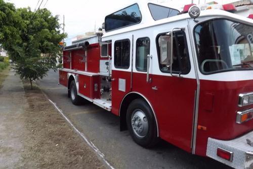 camion de bomberos, e-one, motor detroit, todo equipado