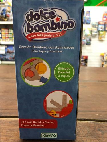camión de bomberos musical dolce bambino ditoys july toys