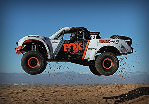 camion de carreras traxxas unlimited desert racer rc, naranj