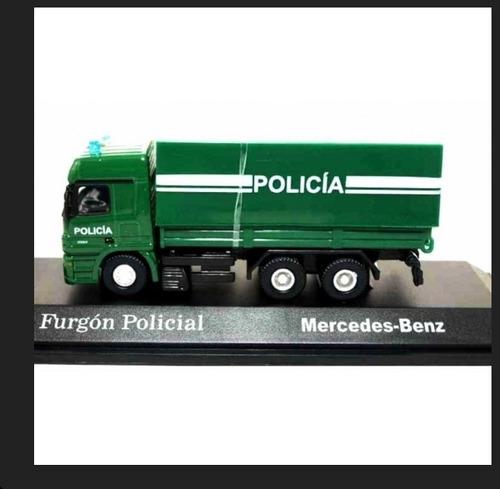 camion de coleccion furgon policial  (mercedes-benz) 1/72