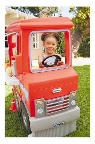 camión de comidas de juguete 2 en 1+20 accesorios- little