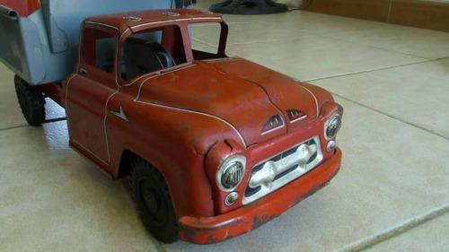 camión de juguete lumar marx vintage dump truck 1960s