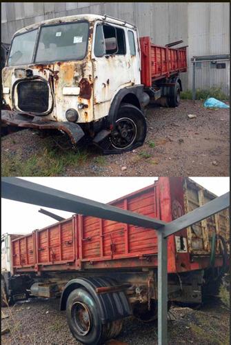 camion fiat 619n c/volcador baco papeles al dia