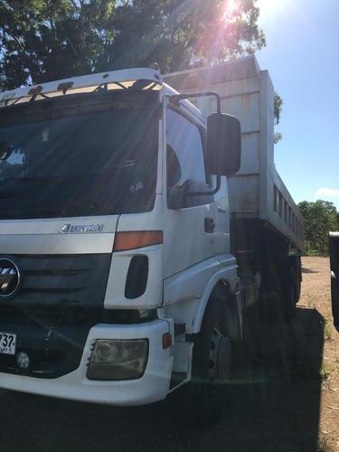 camión foton tx 1621 doble eje con volcadora