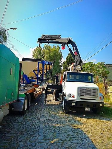 camión freightliner 2002 con grúa articulada hiab 12 tons