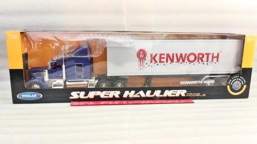 camion furgon kenworth w900/60cms largo/ escala 1:32/ welly