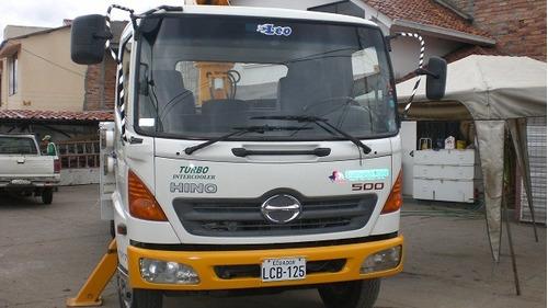 camion grua canasta aislada a 46kv
