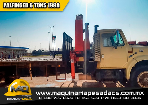 camion grua hiab 6 tons 1999 - palfinger