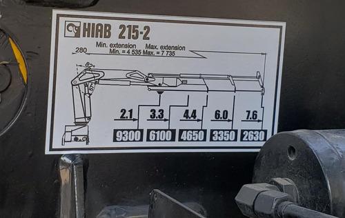 camion grua hiab de 9 ton international certificado