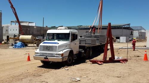 camion grua montajes y traslado de equipos - limp. terrenos