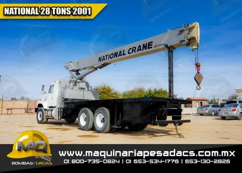 camion grua titan international - national 2001 28 tons
