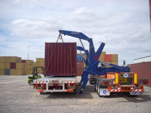 camion hidrogrua- transporte carga/descarga contenedores