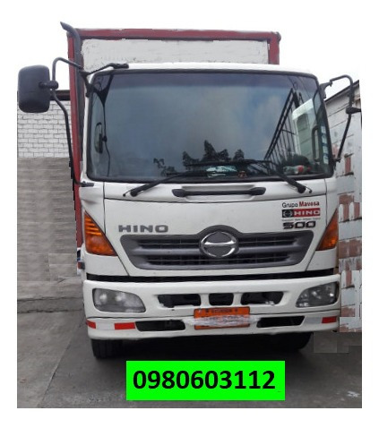 camion hino gd año 2014 con furgón metálico