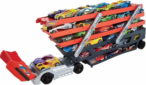 camión hot wheels mega hauler original capacidad 50 carros