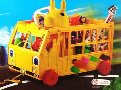camion infantil 3 en 1 guarda juguetes, arrastre y didactico