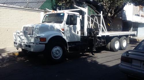 camion international 1998 con grua hiab para 10 toneladas